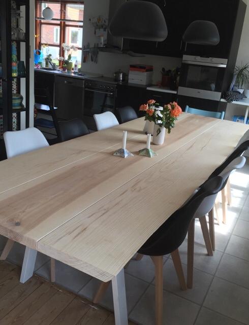 Plankebord udført i 3 planker