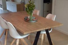 Hvid olieret egetræs plankebord