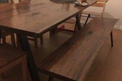 Amerikansk valnød 2 planker med bænk
