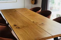 Plankebord 2 planker egetræ med naturolie