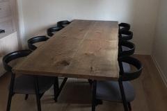 Plankebord eg med 2 planker ibenholt olie