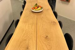 Plankebord med skrå ben høj 2 planker med naturolie
