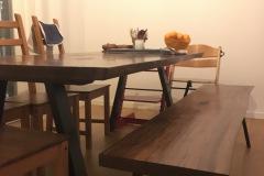 kundebillede amerikansk valnød 2 planker med bænk