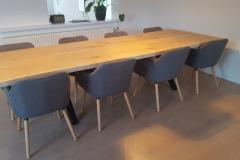 plankebord 2 planker  eg med hvid olie 110 x 310 cm