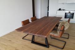 plankebord 3 planker amerikansk valnød med trapez og tillægsplade