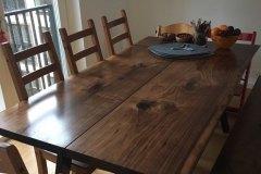 plankebord amerikansk valnød 2 planker
