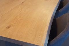 plankebord eg 2 planker med hvid olie 110 x 310 cm