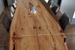 plankebord elm med naturolie 110 x 210 cm