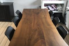 plankebord europæisk valnød med skrå ben