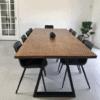 Plankebord med trapez stel
