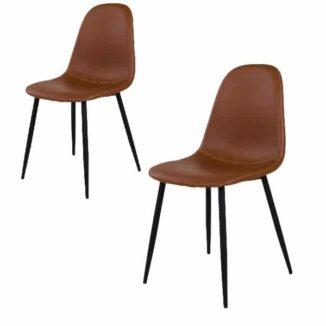 Anton spisebordsstol lysebrun vintage