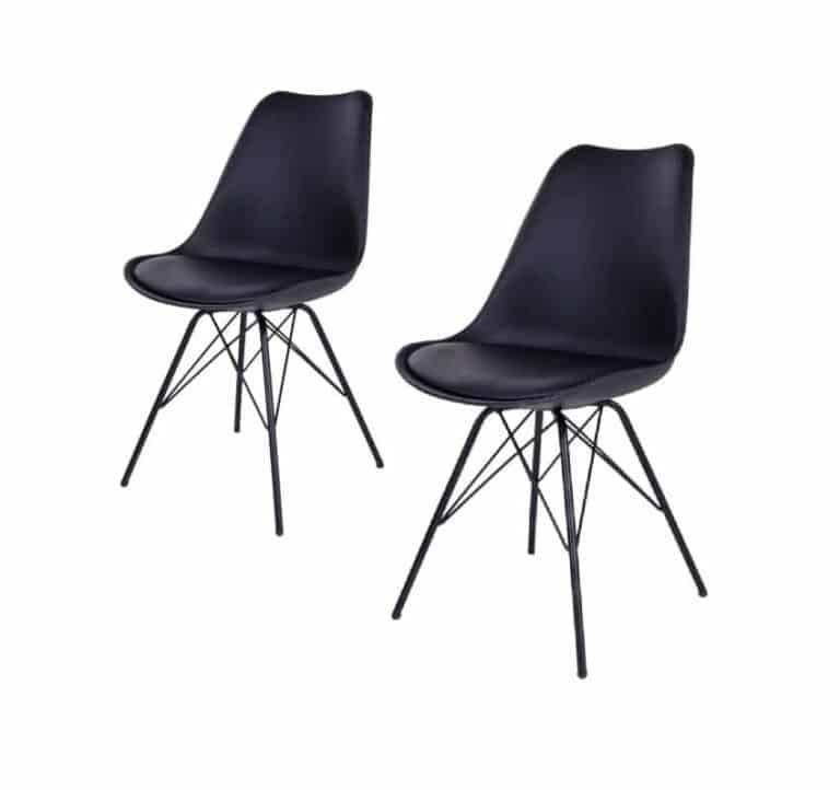 Comfort spisebordsstol i sort.
