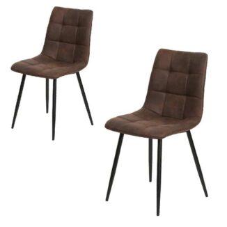 Ellen spisebordsstol mørke brun