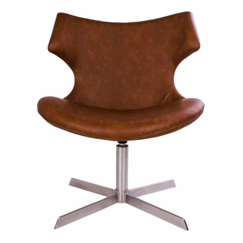 Nohr loungestol brun