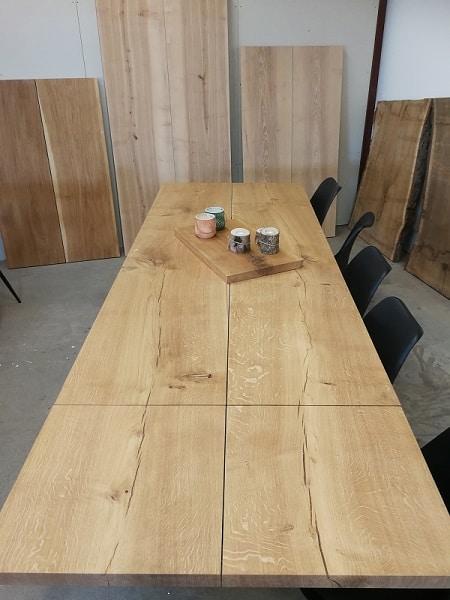 Plankebord eg med naturolie 100 x 240 cm 1 tillægsplade