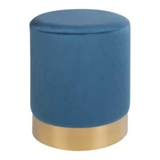 Puf deluxe blå velour