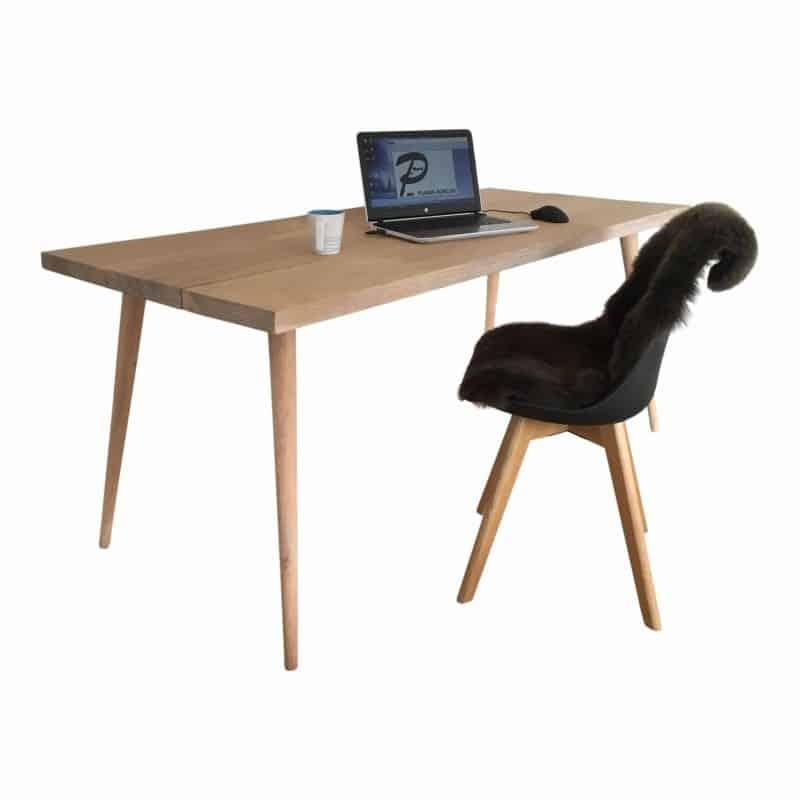 Skrivebord skrå koniske drejede bordben