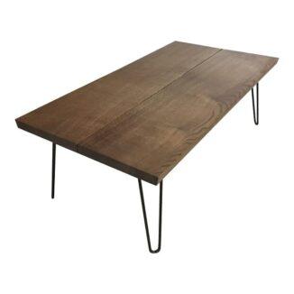 Sofabord eg Ibenholt 70x120 cm fra siden