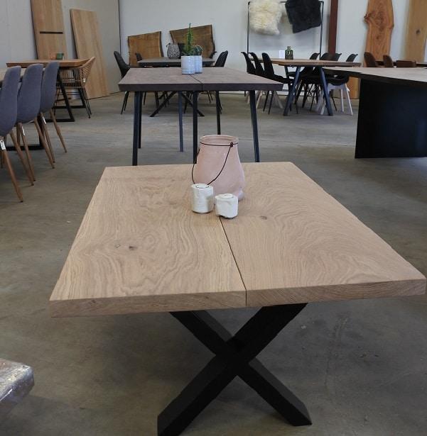 Sofabord eg med hvid olie produktbillede