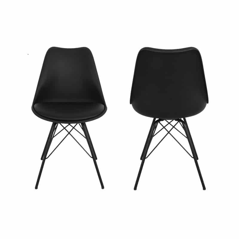 Vellidte Comfort spisebordsstol - Sort - 2 Stk. - Køb her - Planke-bord.dk IA-36