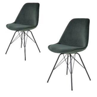 Spisebordsstol comfort grøn velour