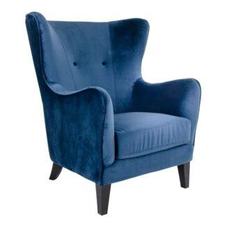 carmen lænestol blå velour