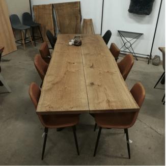 plankebord eg med 2 planker og ibenholt olie