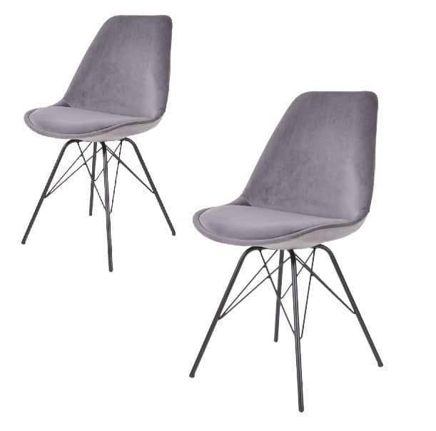 spisebordsstol comfort grå velour
