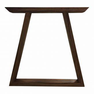 Valnød bordben trapez