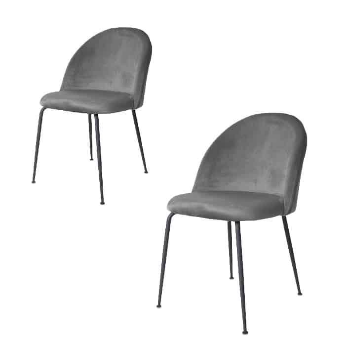 Geneve spisebordsstol grå-sort