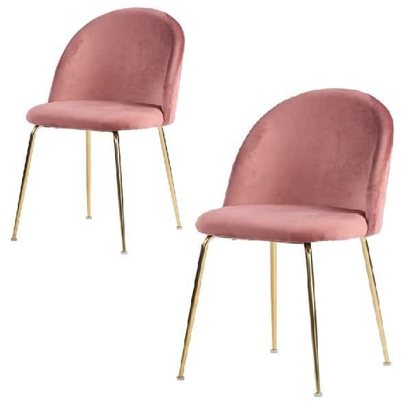 Geneve spisebordsstol rosa