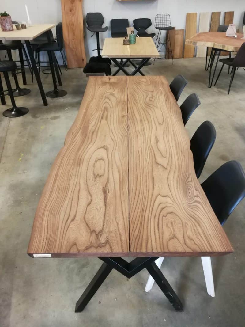 PLankebord elm med ibenholt olie 90x247 cm