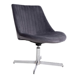 oulu loungestol i grå velour