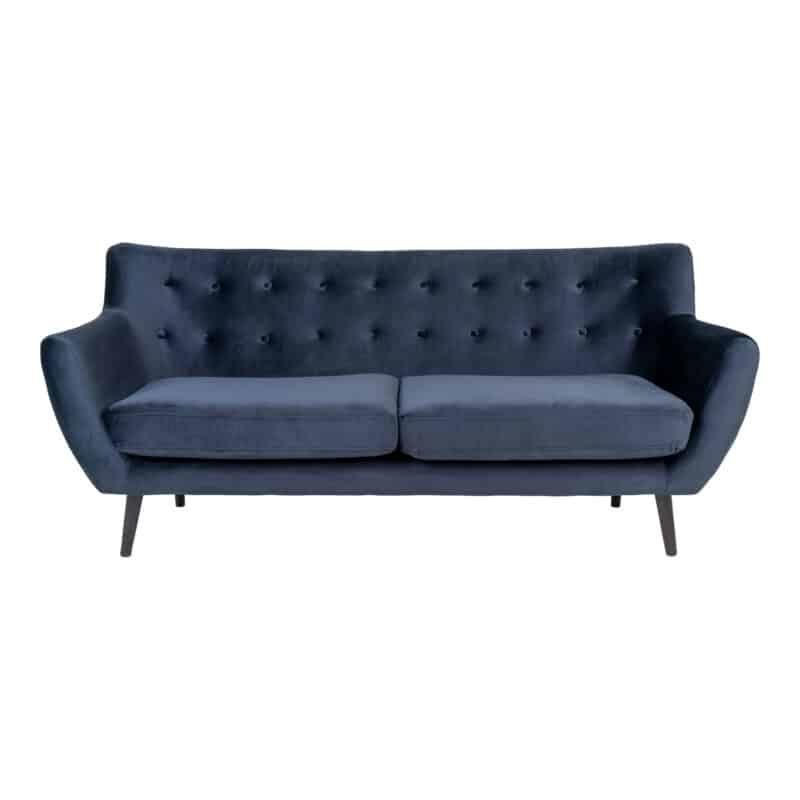 Sofa - Monte - Mørkeblå - Velour