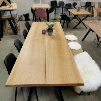 plankebord eg 2 planker naturolie 15 grader opad