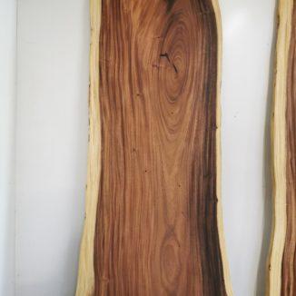 plankebord i amerikansk valnød 110x310 cm fuld billede