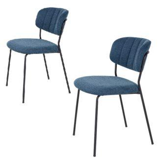 Alicante spisebordsstol blå side