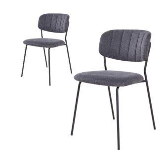 Alicante spisebordsstol mørkegrå side