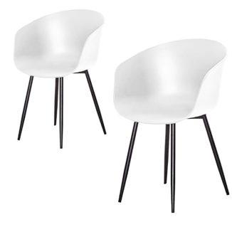 Roda spiseborddstol hvid 2 stk