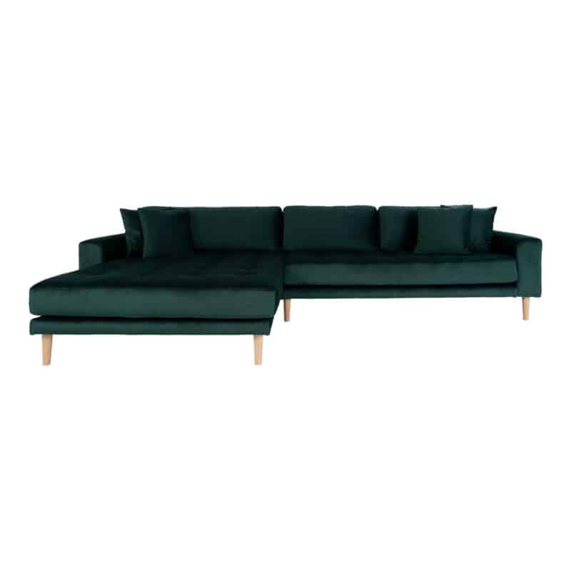 Lido lounge sofa grøn velour