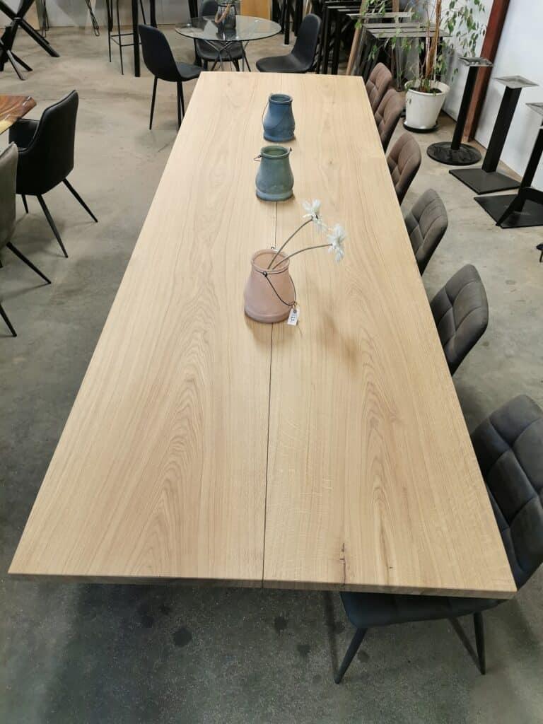 PLankebord i eg med hvid olie 110x360 cm (1)