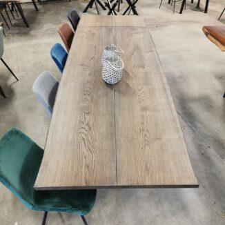 Plankebord eg med ibenholt olie, 105x260 cm 1 stk. tillægsplade (1)