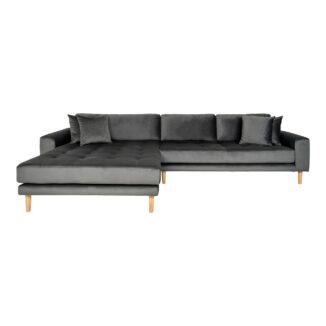 Loungesofa - Lido - Mørkegrå - Velour