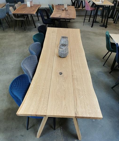Plankebord i eg 3 planker 98x260 cm med 1 tillægsplade (1)
