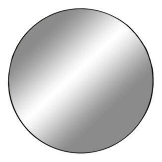 jersey spejl ø 100 cm sort kant