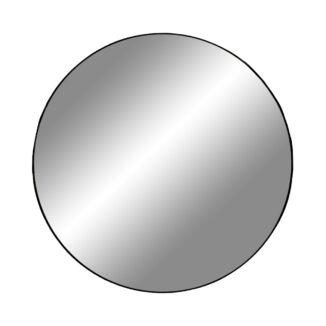 jersey spejl sort kant ø 80 cm