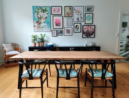 Plankebord i ask 2 planker med valnød olie