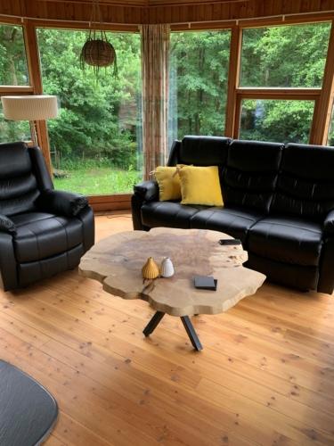Sofabord i ask med naturolie