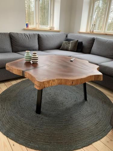 rund mahogni sofabord